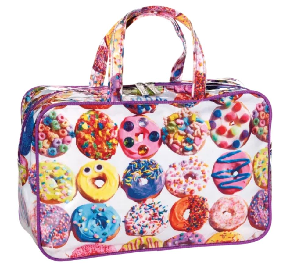 IScream Assorted Donuts Large Cosmetic Bag
