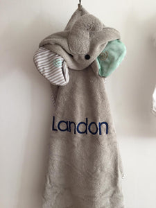 Elle The Elephant Hooded Towel- Landon