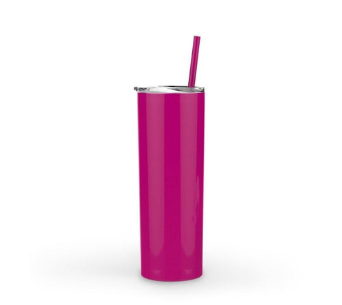 Personalized 20oz Coffee Tumbler - Fuchsia