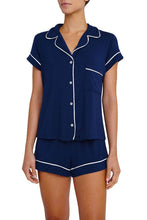 Eberjey: Gisele Short Sleeve, Shorts set - Navy/Ivory