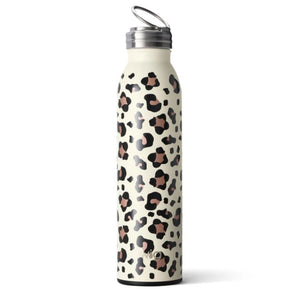 Swig Personalized 20 oz Double Wall Vacuum Insulated Bottle - Luxy Leopard