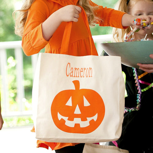 Halloween Pumpkin Canvas Tote Bag