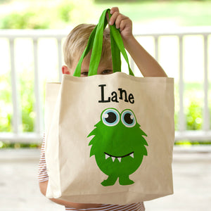 Monster Canvas Tote Bag