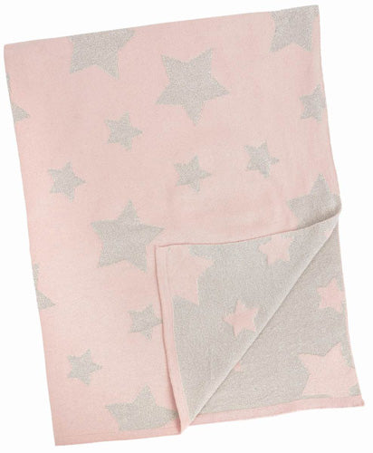Pink and Silver Multi Star Blanket