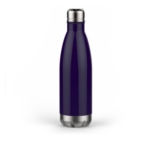 Personalized 17 oz Double Wall Vacuum Insulated Water Bottle - Midnight