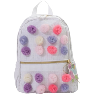 Palm Beach Crew - Pastel Pom Pom Toddler Backpack