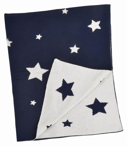Navy Multi Star Blanket