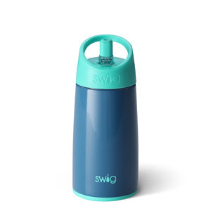 12 Ounce Stainless Steel Kids Water Bottle - Navy
