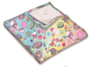 Planet Sweets Fuzzy Blanket