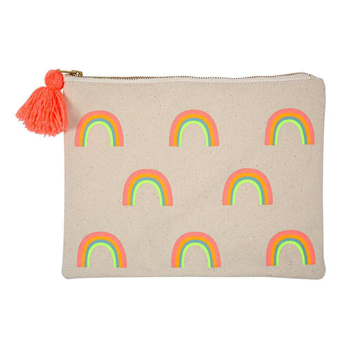 Meri Meri Large Rainbow Zippered Pouch