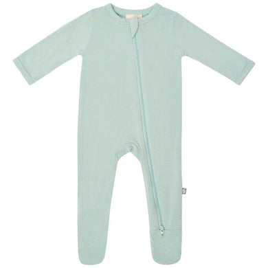 Kyte Zippered Footie in Sage