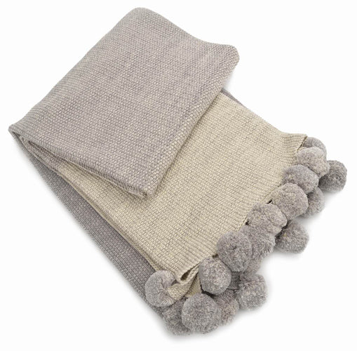 Light Grey Ombre Throw Blanket
