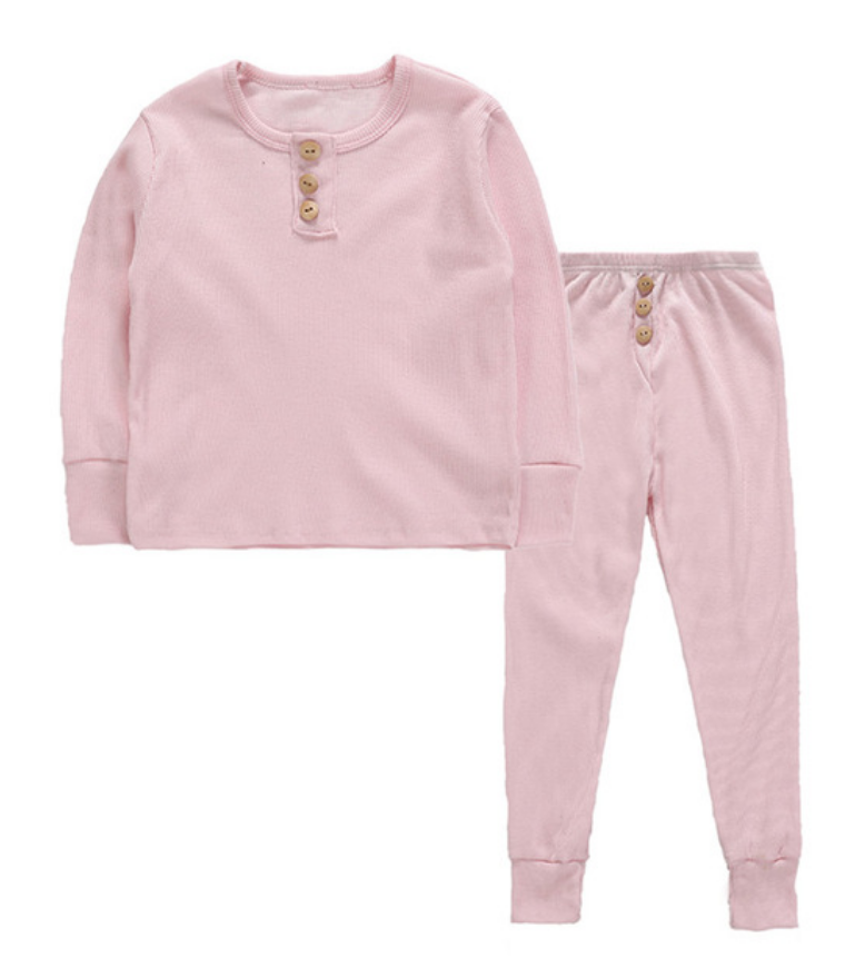 Scotty Ribbed PJ - Bright Rose