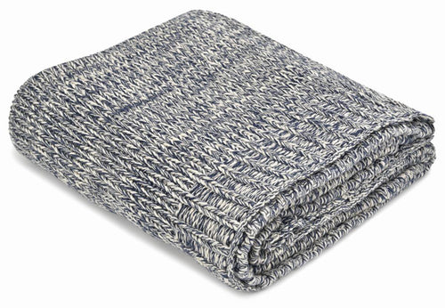 Sierra Navy Cotton Throw