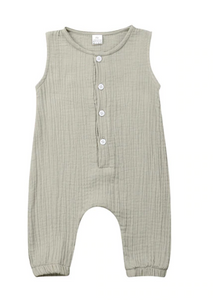 Teddy Romper - Putty