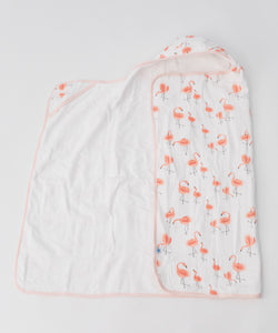 Little Unicorn Cotton Hooded Big Kid Towel - Pink Ladies