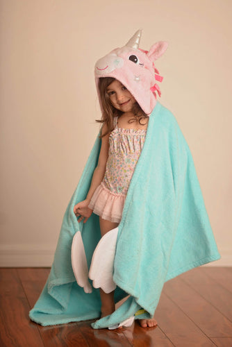 Allie the Unicorn Hooded Towel