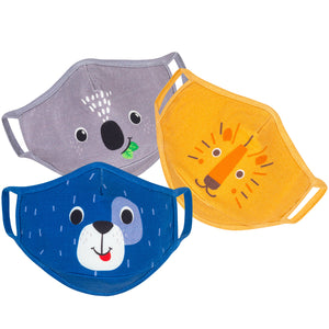 Zoocchini Organic Cotton Face Mask, 3 piece set - Pups - Age 3-6