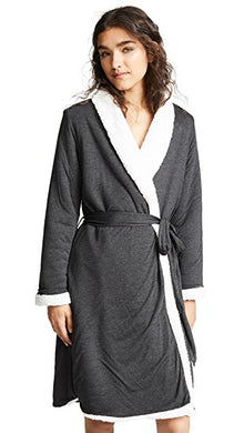 Eberjey: Alpine Chic Aspen Robe - Charcoal Heather