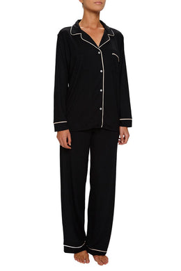Eberjey: Gisele Long Sleeve, Pant set - Black/Sorbet