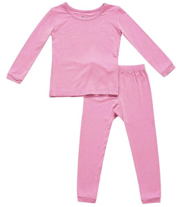 Kyte Toddler Pajama Set in Bubblegum