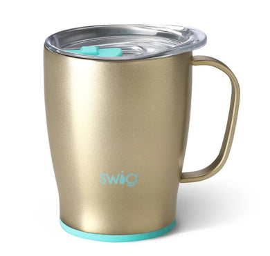 Swig Personalized 18 oz Double Wall Vacuum Insulated Travel Mug - Champagne