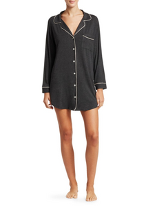 Eberjey: The Sleepshirt - Charcoal Grey/Bellini