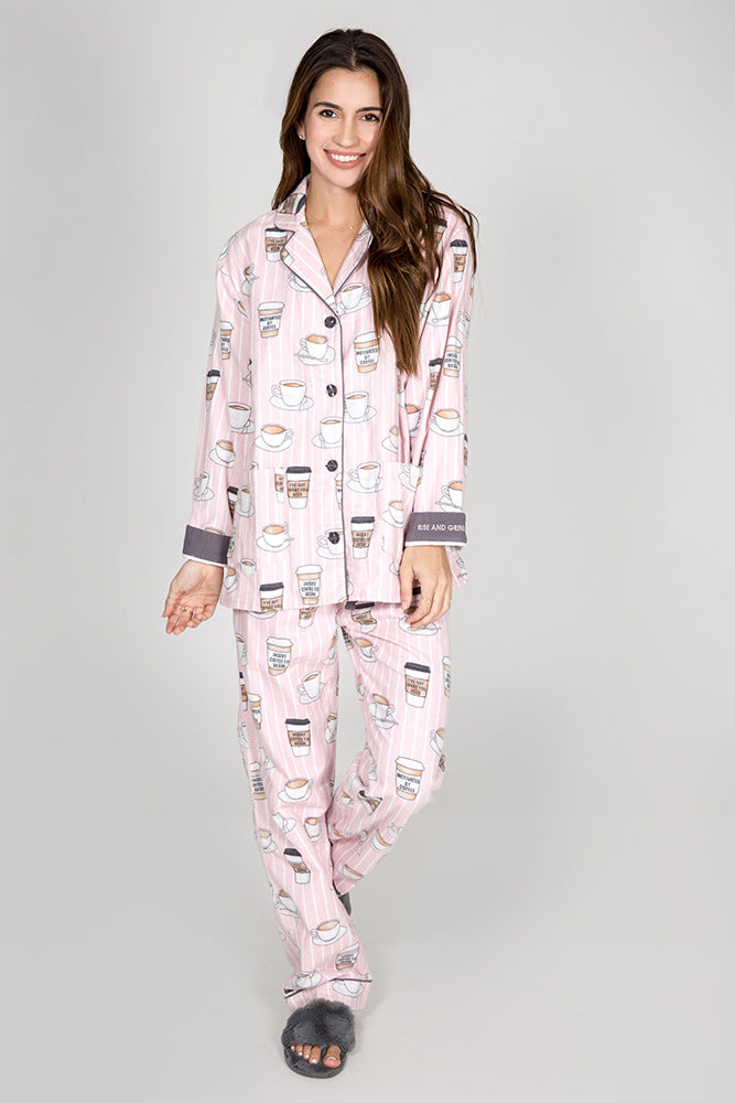 PJ Salvage: Rise and Grind Flannel PJ Set