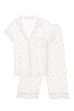 Eberjey: Flamingo Short Sleeve/Cropped Pant Set - TREE PLANTED WITH PURCHASE