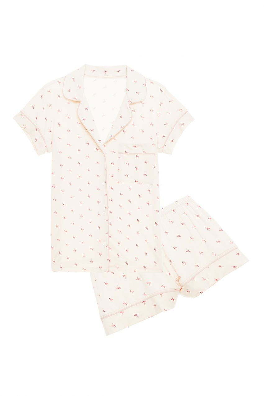 Eberjey: Flamingo Short Sleeve/Shorts Set - TREE PLANTED WITH PURCHASE