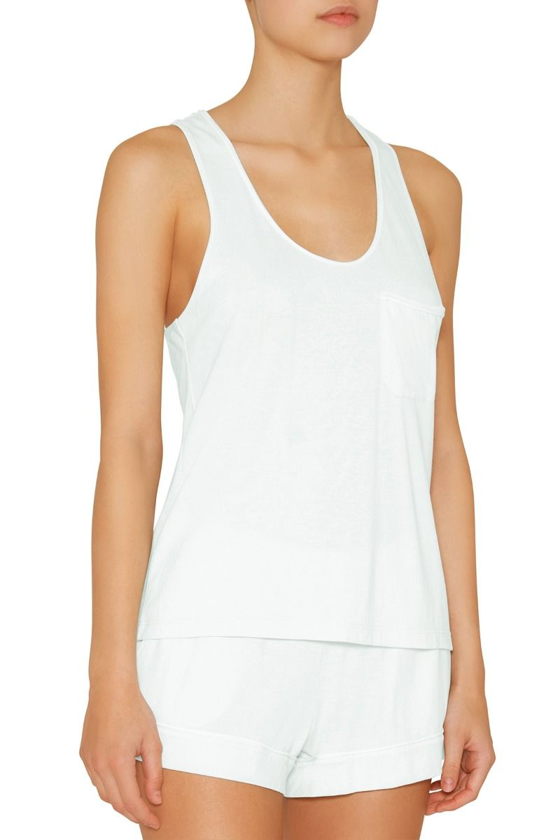 Eberjey: Gigi Tank Top, Shorts set - Soothing Sea/Ivory