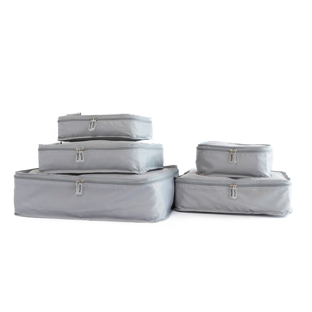 Set of 5 Packing Cubes by MUMI Design (Grey)