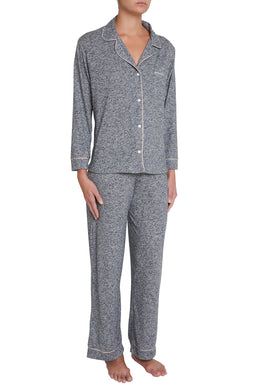Eberjey: Bobby Long Sleeve, Pant set - Heathered Grey