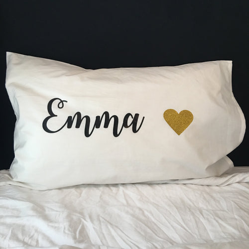 Name X Heart Pillow