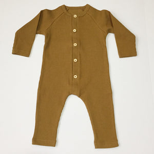 Hunter Ribbed Romper - Camel