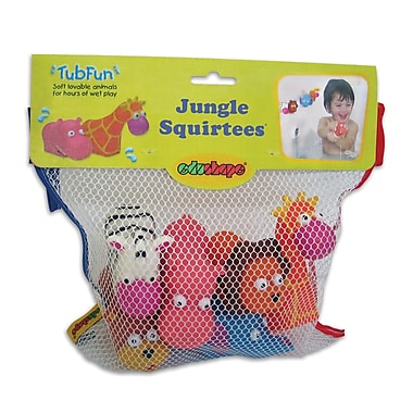 Jungle Squirtees Bath Toy - 6 Animals