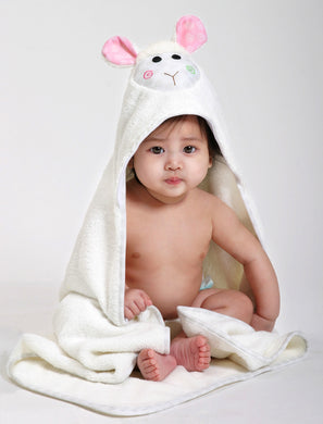 Lola the Lamb Hooded Towel