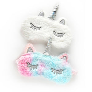 Fuzzy Unicorn Sleep Mask