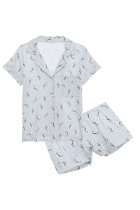 Eberjey: Mermaids Short Sleeve/Shorts Set