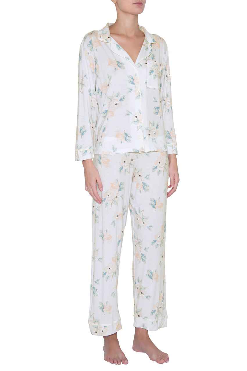Eberjey: Gisele Long Sleeve, Pant set - Mother's Blossom