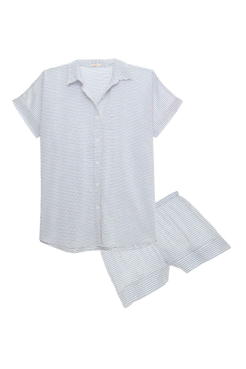 Eberjey: Short Sleeve/Shorts Set - Nautico Slouchy Short Set