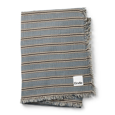 Sandy Stripe Soft Cotton Baby Blanket by Elodie Details