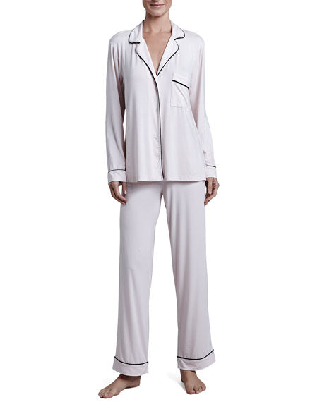Eberjey: Gisele Long Sleeve, Pant set - Sorbet/Black