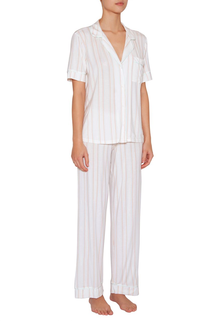 Eberjey: Gisele Sleeve/Cropped Pant Set - Summer Stripes