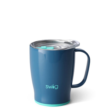 Swig Personalized 18 oz Double Wall Vacuum Insulated Travel Mug - Denim