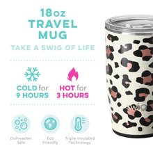 Swig Personalized 18 oz Double Wall Vacuum Insulated Travel Mug - Luxy Leopard