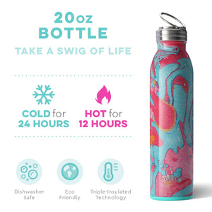 Swig Personalized 20 oz Double Wall Vacuum Insulated Bottle - Cotton Candy