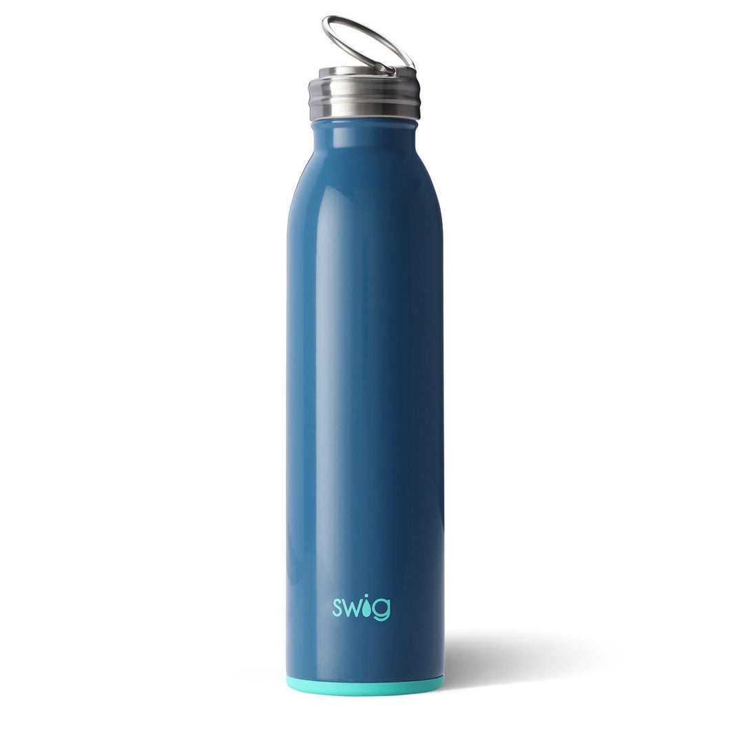 Swig Personalized 20 oz Double Wall Vacuum Insulated Bottle - Denim