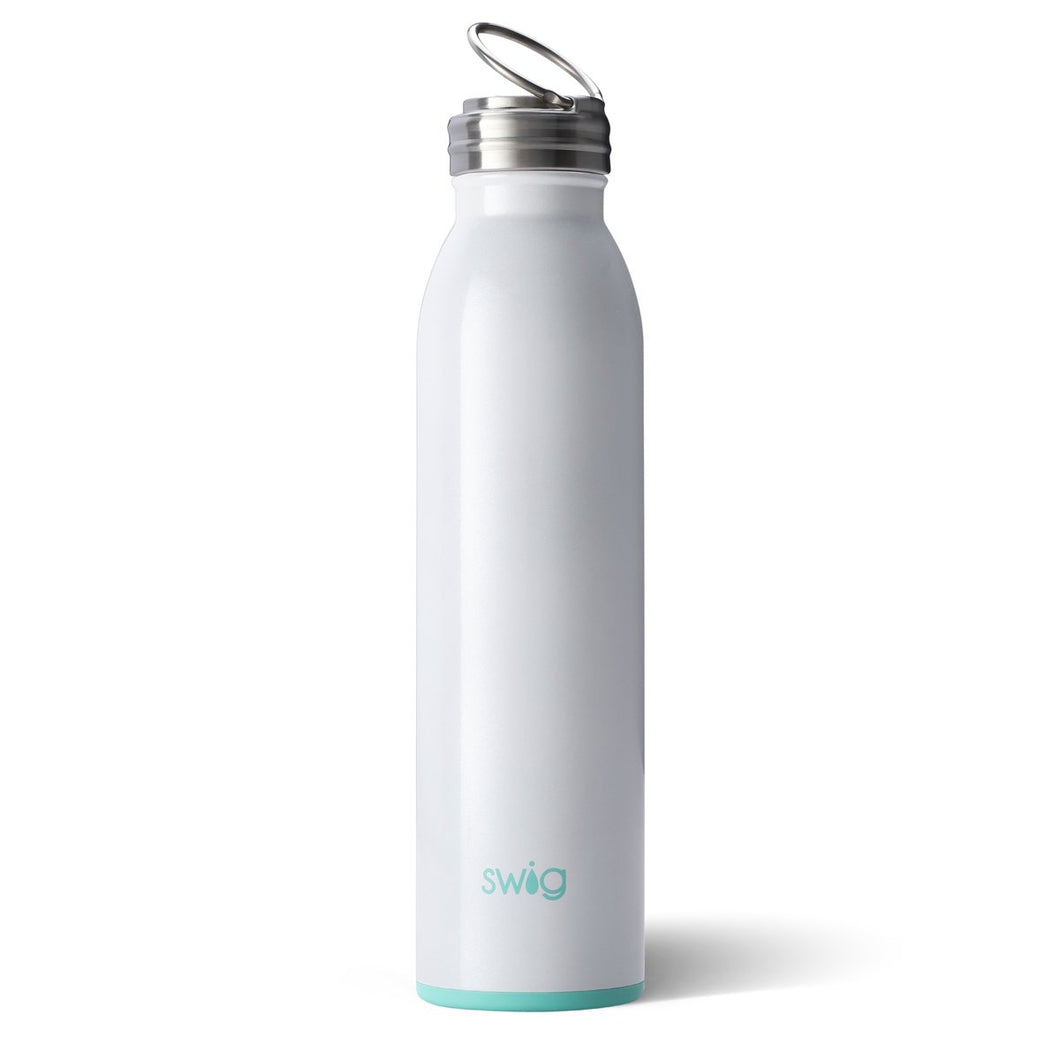 Swig Personalized 20 oz Double Wall Vacuum Insulated Bottle - Diamond White