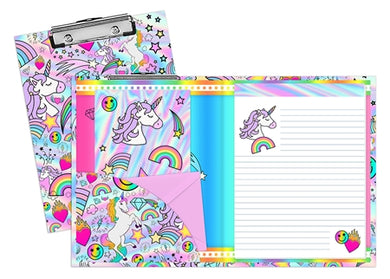Unicorn Coutoure Clipboard and Stationery Set